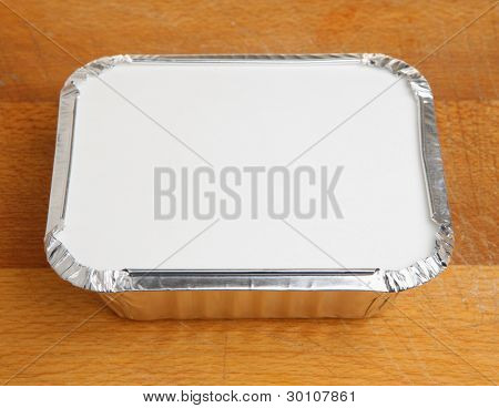 Chinese takeaway food in foil tray
