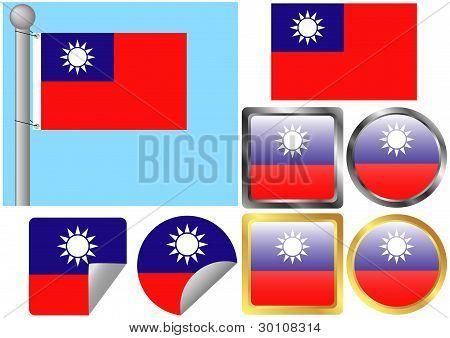 Flag Set Taiwan
