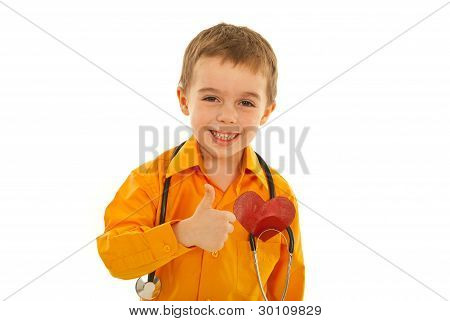 Laughing Successful Future Doctor