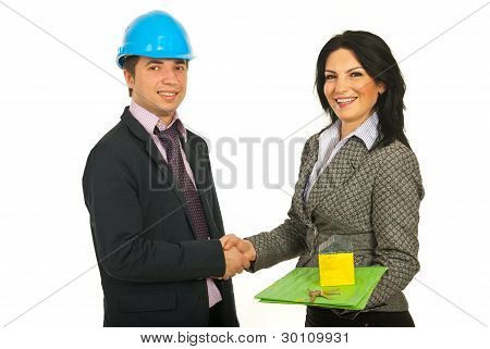 Handshake Architect And Buyer
