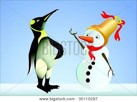 dialogue of penguin and snow doll.eps
