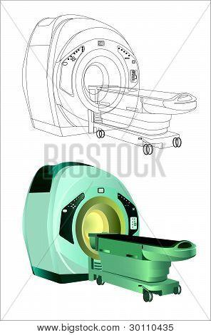 Ressonância magnética - máquina