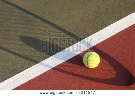 Tennis Ball Shadow Of Racket