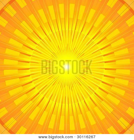 Burning Hot Summer Sun Mandala