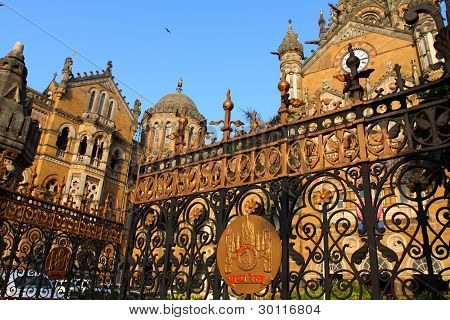 Victoria Terminus Train Station In Mumbai (india)