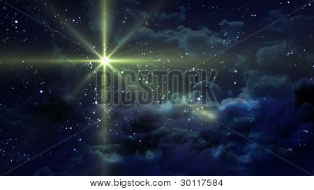 Noche estrellada amarilla