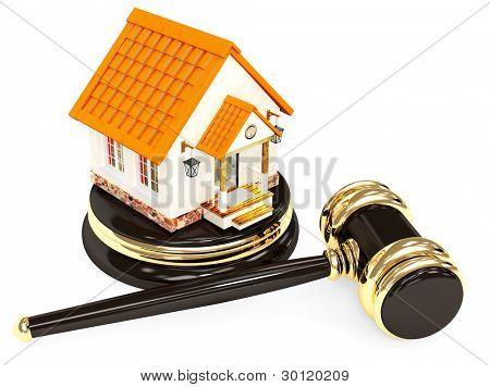 Verkauf eines Hauses. Objekt weiß