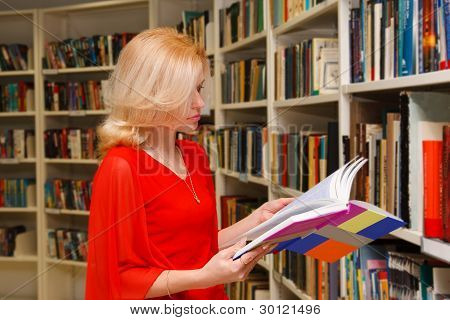 Woman In Library