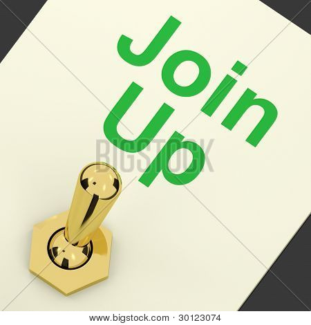 Join Up Switch On Showing Subscription And Registration