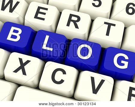 Blog Computer Keys In Blue For Blogger Website