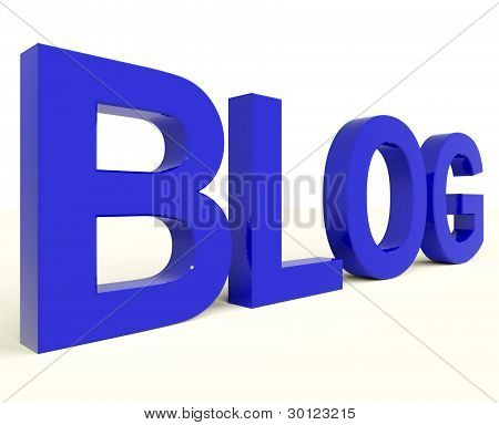 Blog Word In Blue For Blogger Website