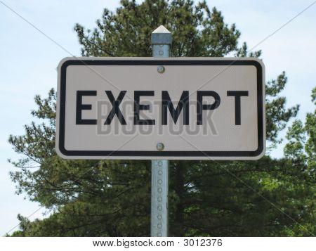 Exempt Sign