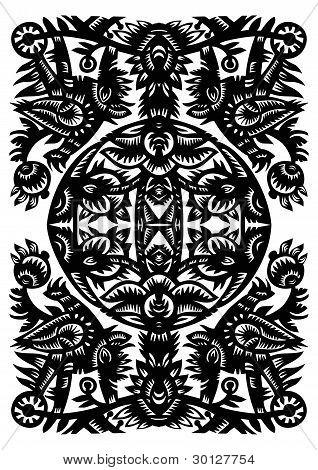 Decorative Black Pattern