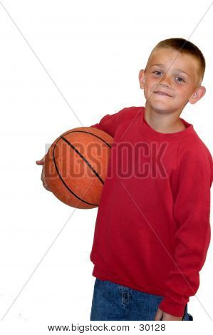 Holding Basketball