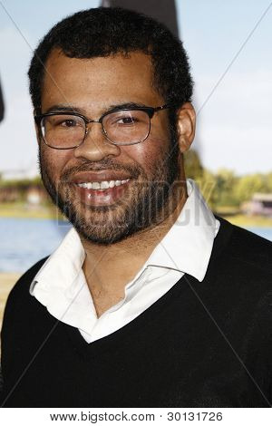 LOS ANGELES, CA - FEB 16: Jordan Peele at the premiere of Universal Pictures' 'Wanderlust' held at Mann Village Theatre on February 16, 2012 in Los Angeles, California