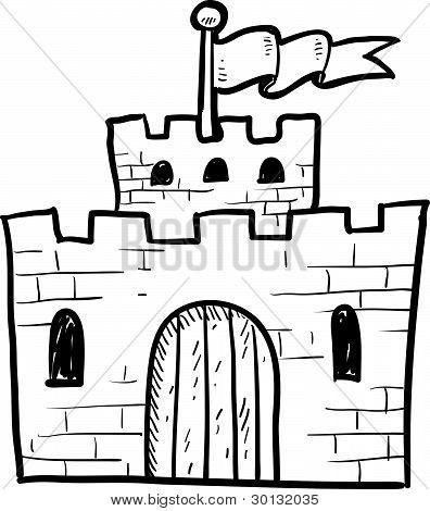 Bosquejo del castillo segura