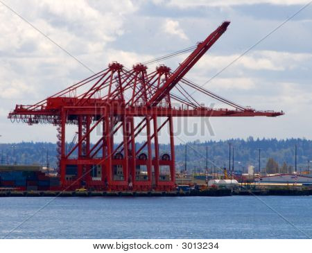 Port Of Seattle Contaner Cranes V1