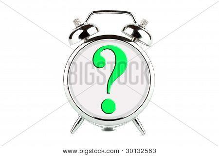 Frage-Symbol auf den Wecker