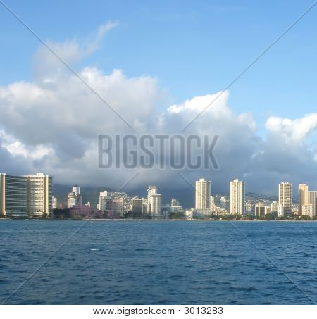 Vista de Honolulu, Hawaii