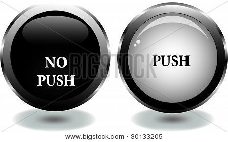 vector button with words
