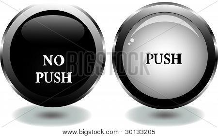 botón de vector con palabras