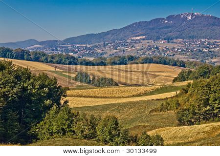 Kalnik Mountain Landscape - Fields And Countryside