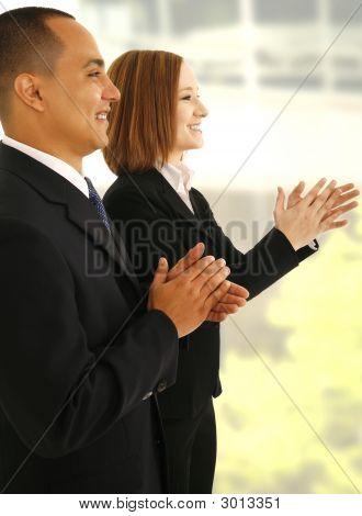 Business Team klatschen Hand