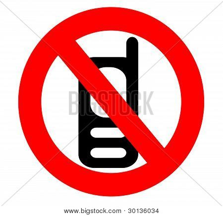 No Cell Phone Sign Isolated