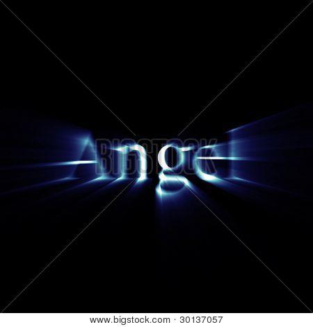 Ángel de palabra que brilla intensamente