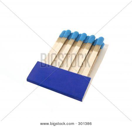 Set Of Blue Matches