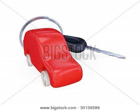 Keys to the car with trinket