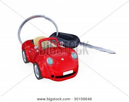 Keys to the car with trinket.