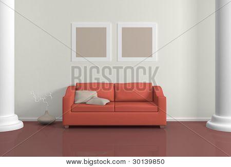 Modern interior composition.