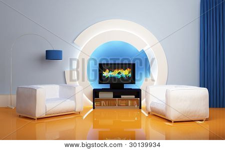 Modern interior composition.