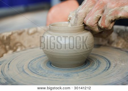 Potter On The Potters Wheel .