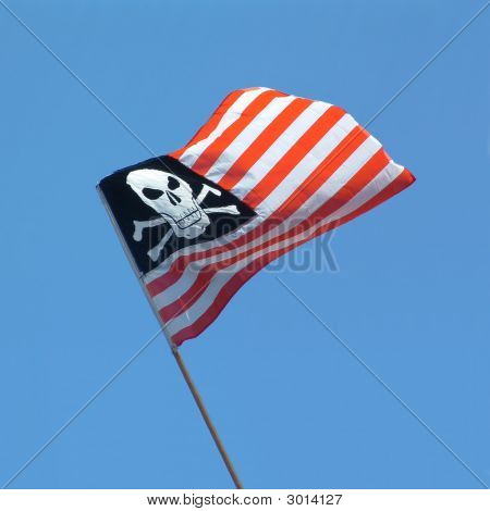 Skull And Crossbones Usa Flag