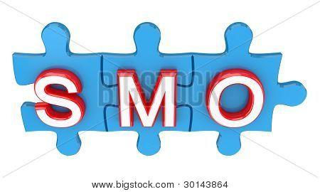 Puzzle mit einem Wort-Smo.