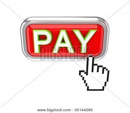 PAY button and white cursor.