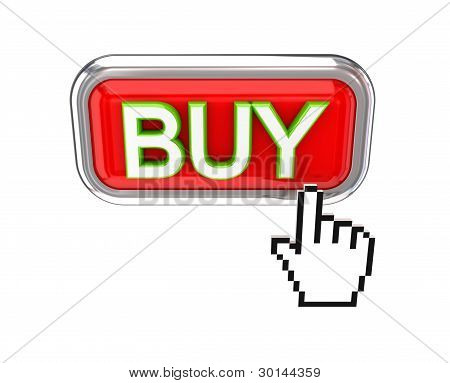 Cursor pushing red BUY button.