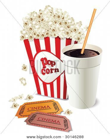 Popcorn and coke cup