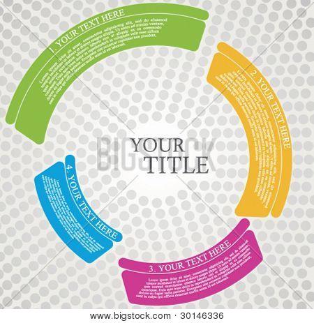 Broschüre Design Kreise