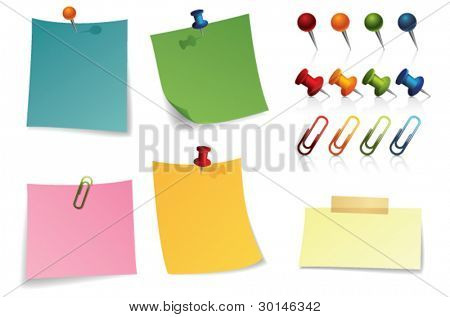 note paper and pin