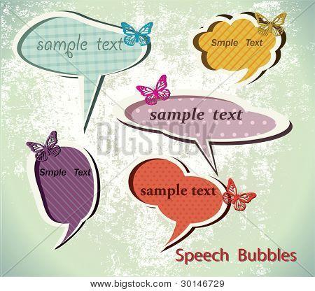 Burbujas de ponencia. Vector