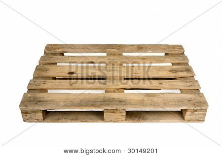 Old wooden shipping pallet, studio shot