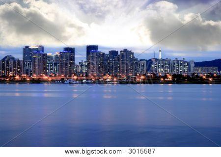 Seoul Skyline At Dusk