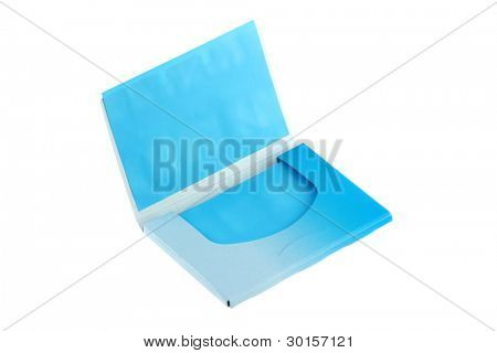 A package of Blue Oil absorbing (blotting) sheets to remove excess oil on oily face