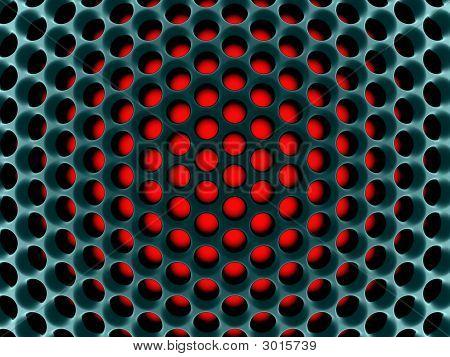 Abstract High-Tech Honeycomb Structure.3D Render.