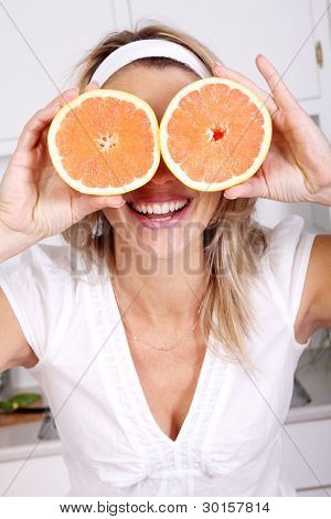 Woman With Grapefruits