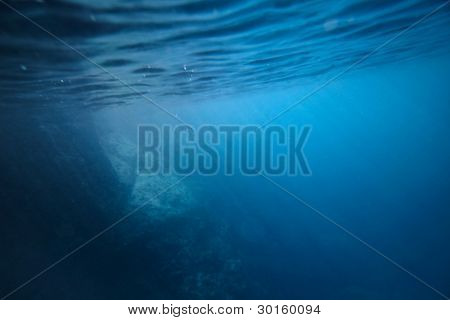 Underwater shoot of a rocky sea bottom