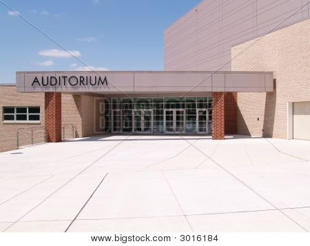 Exterior Entrance Doors For A School Auditorium
